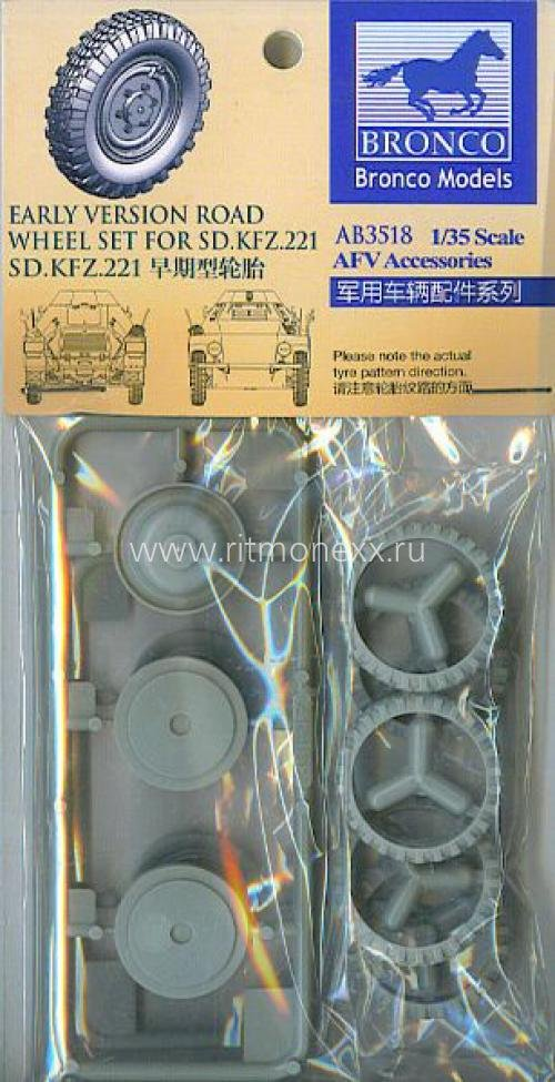 Sdkfz.221 road wheel set (Early version)