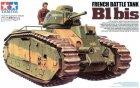 Французский танк B1 bis с 75-мм пушкой, наборными траками и фигурой командира. 4 варианта раскраски