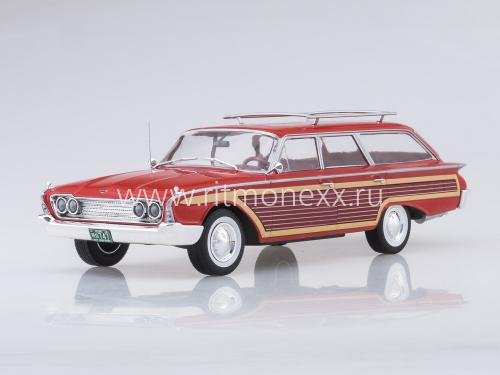 Ford Country Squire, red/Holzoptik, 1960, mit Dachreling