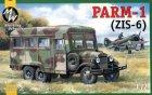 Автомобиль PARM-1 с резиновыми колесами