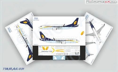 Декаль на самолет Boeing 737-8 MAX Jet Airways