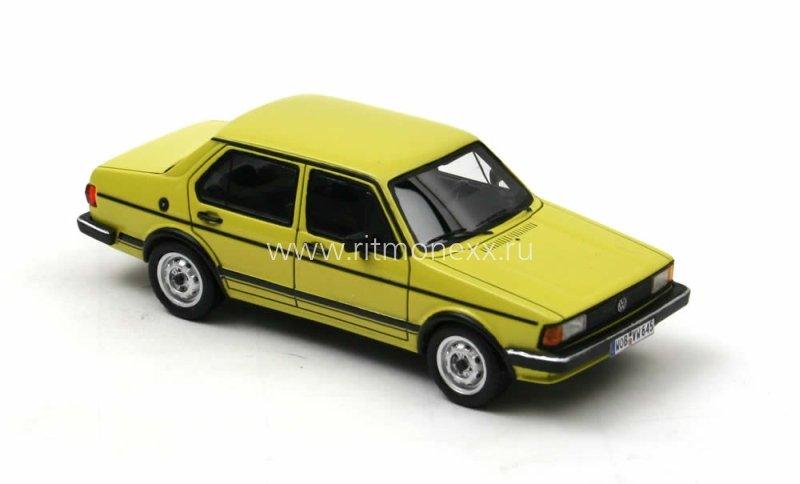 masshtabnaya model vw jetta   door yellow  volkswagen