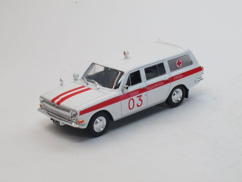 Автомобиль на службе №15, ГАЗ-24-03 Волга, скорая медицинская помощь (модель+журнал)
