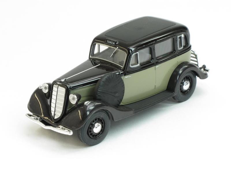 ГАЗ-М1 такси, серо-черный